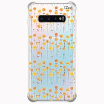 Capa capinha anti shock galaxy s10+ s10 plus 0929 flores 2 - Quarkcase