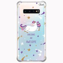 Capa capinha anti shock galaxy s10+ s10 plus 0964 unicórnios - Quarkcase