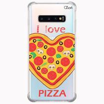 Capa capinha anti shock galaxy s10+ s10 plus 1014 pizza love - Quarkcase