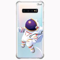 Capa capinha anti shock galaxy s10+ s10 plus 1079 astronauta - Quarkcase