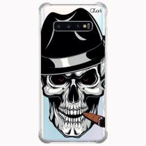 Capa capinha anti shock galaxy s10+ s10 plus 1114 caveira ch - Quarkcase