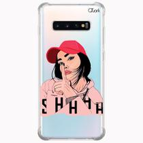 Capa capinha anti shock galaxy s10+ s10 plus 1583 shhhh - Quarkcase