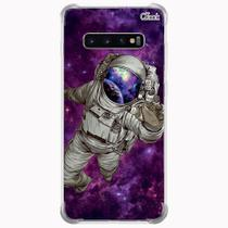 Capa capinha anti shock galaxy s10+ s10 plus 1614 astronauta - Quarkcase