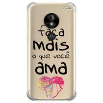 Capa capinha anti shock moto e5 play frases 7 0771 - Quarkcase