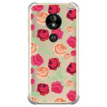 Capa capinha anti shock moto e5 play rosas 0907 - Quarkcase