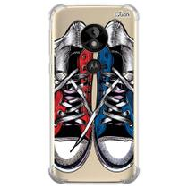 Capa capinha anti shock moto e5 play tênis star 0587 - Quarkcase