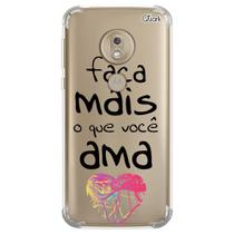Capa capinha anti shock moto g7 plus frases 7 0771 - Quarkcase