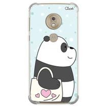 Capa capinha anti shock moto g7 plus panda sac 1592 - Quarkcase
