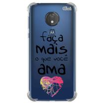 Capa capinha anti shock moto g7 power frases 7 0771 - Quarkcase