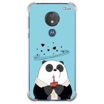 Capa capinha anti shock moto g7 power panda choc 1593 - Quarkcase