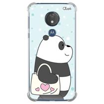Capa capinha anti shock moto g7 power panda sac 1592 - Quarkcase