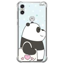 Capa capinha anti shock motorola one panda sac 1592 - Quarkcase