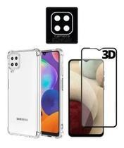 Capa Capinha Anti Shock + Película de Vidro 3D + Película de Câmera Para M12 6.5 - Russo Shop