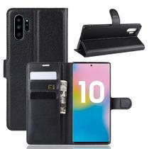 """Capa Capinha Carteira 360 Para Samsung Galaxy Note 10 Plus Tela 6.8"""" Case Couro Flip Wallet - Danet - Danet"""