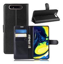 Capa Capinha Carteira Flip Para Galaxy A80 Case Couro 6.7 - Danet
