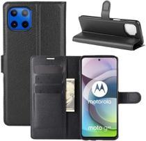 Capa Capinha Carteira Motorola Moto G 5G Case Couro Flip Top - Danet