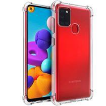 Capa Capinha Case Anti impacto transparente + Pelicula de Gel 5D Samsung Galaxy a21s a217 - Xmart