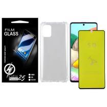 Capa Capinha Case Anti impacto transparente Reforçada + Pelicula de Gel 5D Galaxy A71 A715 - Cell In Power25