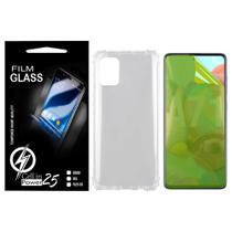Capa Capinha Case Anti impacto transparente Reforçada + Pelicula de Gel Galaxy A71 A715 (Tela 6.7) - Cell In Power25