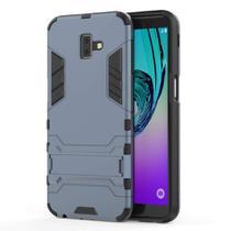 Capa Capinha Case Armadura Kickstand Samsung Galaxy J6 2018 Azul - Planeta Case