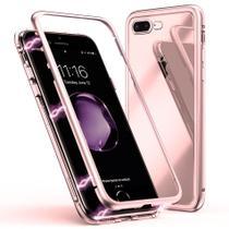 Capa Capinha Case de Proteção Magnética Anti Impacto iPhone 7 Plus / 8 Plus Rosa - Hrebos