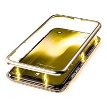 Capa Capinha Case de Proteção Magnética Anti Impacto Samsung Galaxy S9 Dourada - Hrebos