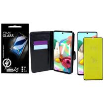 Capa Capinha Case Flip Carteira + Pelicula de Gel 5D Galaxy A71 A715 (Tela 6.7) - Cell In Power25