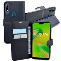 Capa Capinha Case Flip Carteira + Pelicula de Gel 5D ZenFone Max Plus (M2) ZB634KL (Tela 6.26) - Cell In Power25