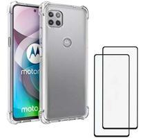 Capa Capinha Case Motorola Moto G 5G  Anti Shock + Película 3D 5D 9D Blindada Cobre 100% Da Tela Borda Resistente - ELETRODU