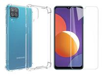 Capa Capinha Case + Pelicula Vidro 9h Samsung Galaxy M12 6.5 - Russo Shop