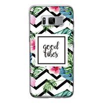 Capa Capinha Case Personalizada Samsung Galaxy S8 Good Vibes - Husky