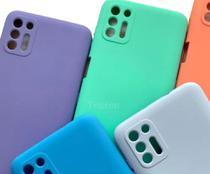 Capa Capinha Case Proteção de Câmera em Silicone Moto G9 Plus Interior Aveludado - Preta - ELETRODU