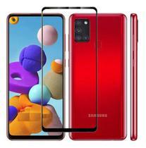 Capa Capinha Case Samsung Galaxy A21 Anti Shock + Película 3D 5D 9D Blindada Cobre 100% Da Tela Borda Resistente - Eletrodu