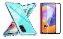 Capa Capinha Case Samsung Galaxy A31 Anti Shock + Película 3D 5D 9D Blindada Cobre 100% Da Tela Borda Resistente - ELETRODU
