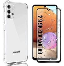 Capa Capinha Case Samsung Galaxy A32 4g Anti Shock + Película 3D 5D 9D Blindada Cobre 100% Da Tela Borda Resistente - Motorola