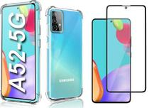 Capa Capinha Case Samsung Galaxy A52 Anti Shock + Película 3D 5D 9D Blindada Cobre 100% Da Tela Borda Resistente - Eletrodu