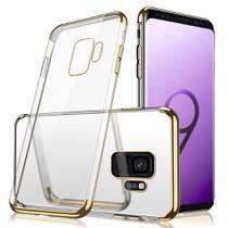 Capa Capinha Case Silicone Borda Color Samsung Galaxy S9 Plus Dourada - Planeta Case