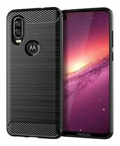 Capa Capinha Fibra Motorola Moto One Vision Case Anti Impacto Tela de 6.3 - Danet