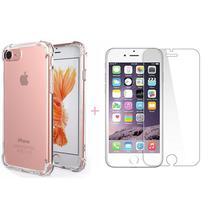 Capa Capinha iPhone 7 Plus 8 Plus Silicone Anti Impacto + Película - Hrebos