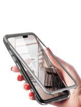 Capa Capinha Magnética 180 Celular Samsung S10 E PLUS A20 30 A50 A10 S Cinza - Ubermix Acessórios