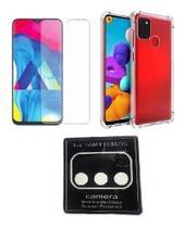 Capa Capinha + Película Vidro + Película Câmera Samsung M21s - Kramac
