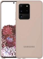 Capa Capinha Silicone Premium Interior Aveludado para Samsung Galaxy S20 Ultra - Rosa Areia - Silicone Case