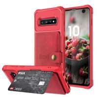 Capa Carteira 2.0 Samsung Galaxy S10 Plus - Vermelho - Oem