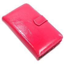 Capa carteira couro 8 cartoes verniz pink samsung a31 a315 - Cellway