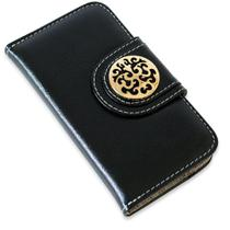Capa carteira couro johari preto iphone 7 plus - Cellway