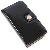 Capa carteira couro strass verniz preto iphone 7 plus - Cellway