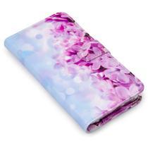 Capa carteira estampada floral nastol e029 para lg k61 lmq630baw - Cellway