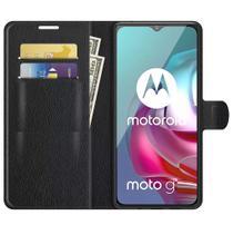 Capa Carteira Flip Antishock (PRETA) Porta Cartão P/ Motorola Moto G10 Moto G20 Moto G30 - DV