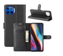 Capa Carteira (PRETA) Flip Antishock Porta Cartão Motorola Moto G 5G Plus - Dv Acessorios