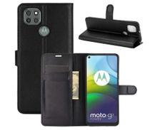 Capa Carteira (PRETA) Flip Antishock Porta Cartão Motorola Moto G9 Power - DV